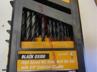 Warrior black oxide drill bit set  missing 4 bits