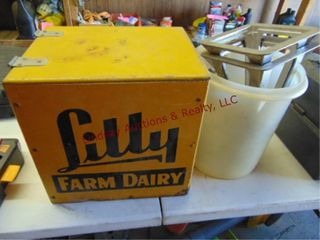 lilly Village Farm Dairy Milk box w  funnels
