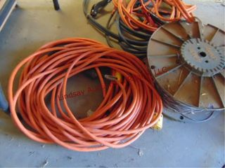 2 sets of jump cables  ext cord  crate