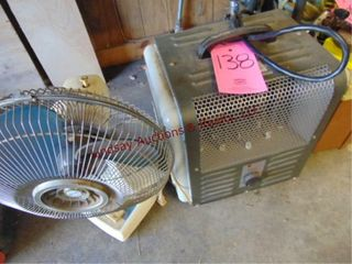 Elec floor heater   table top fan