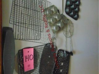 Approx 18pcs  cooling racks  muffin tins  tongs