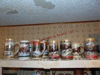 Approx 9 collector s Budweiser steins