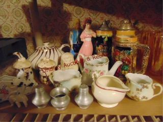 Approx 18pcs misc  S P  cream  teapot  decor