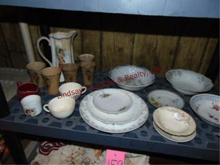 Approx 19pcs misc dishes  bowls  plates  cups