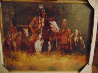 2 Framed Native American pictures