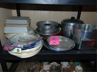 Group of pots  pans   food storage