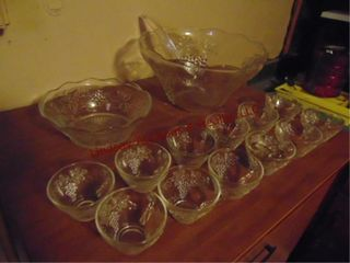14pc glass punch set