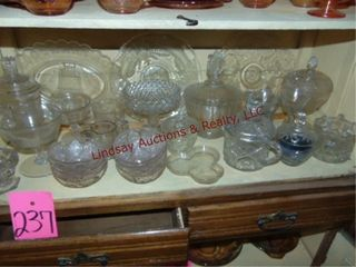 Approx 30pcs clear glass SEE PICS