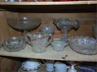 8pcs of clear glass SEE PICS