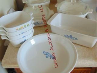 Approx 13pcs of corningware dishes