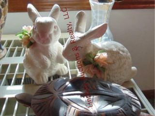 4 pcs  2 rabbits  turtle    vase