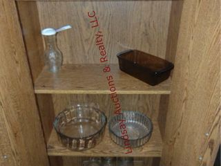 Misc glassware in cabinet  cabinet NOT included