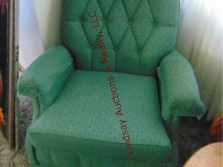 Green swivel rocking chair
