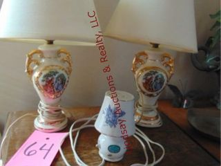 Pair of small table lamps