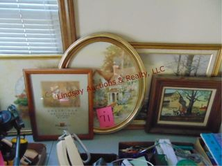7 framed pictures Various Sizes