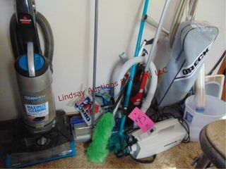 Group of Cleaning items  5 vacuums  dusters