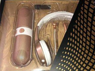 Vivitar listen Up Bluetooth Audio Kit Speaker headphones earphones Pink