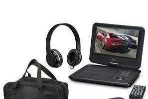 GPX 9  Portable DVD Player Bundle