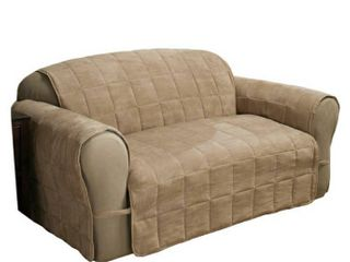 Innovative Textile Solutions 1 Piece Ultimate Faux Suede Xl Sofa Furniture Cover Slipcover  Camel