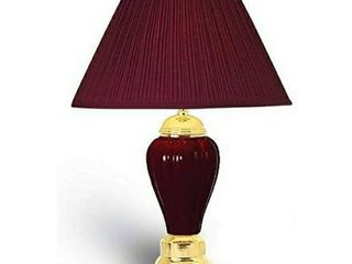 Ceramic Touch lamp with Shade Burgundy Gold