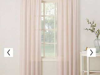 No  918 Erica Crushed Sheer Voile Window Curtain 51 w x 84 l