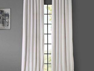 Exclusive Fabrics   Furnishings Signature Blackout Velvet 50  x 120  Curtain Panel 1 PANEl