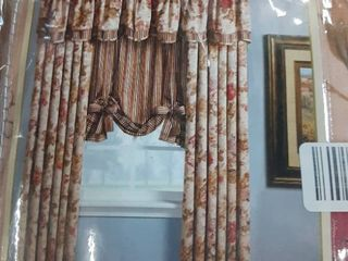 floral drapery panel 50 W x 84 l 2 panels