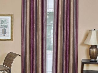 Curtain Panels Achim Eggplant Ombre Design