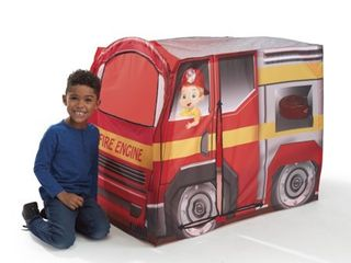 Playhut   Fire Engine EZ Vehicle Pop Up Play Tent a Easy Pop Up and Fold Down with Multiple Doors and Windows  High Quality Durable Materials