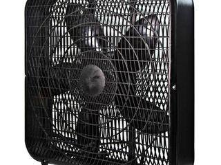 Comfort Zone CZ200ABK 20  3 Speed Box Fan  Black