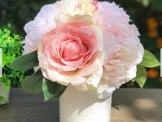 Enova Home Pink Silk Peony And Rose