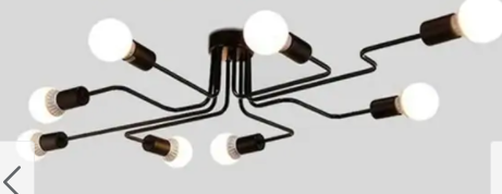 Retro Home Decor Pendant lights E27 Iron Ceiling lamp Bulb for Home lighting Fixtures 8 Bulbs Black Retail 89 99