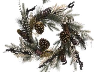 Transpac Pinecone Gold Harvest Wreath