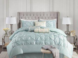 Piedmont 7 Piece Comforter Set   Blue  Queen