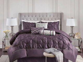 Piedmont 7 Piece Comforter Set   Plum  King