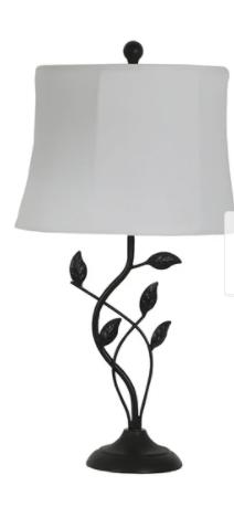 Olivia leaf Bronze Finish Modern Table lamp
