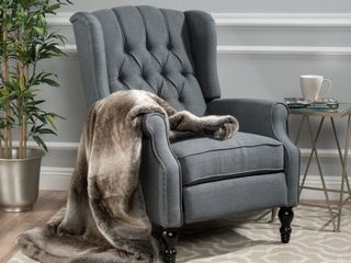 Christopher Knight Home Walter light Beige Fabric Recliner Club Chair Retail 394 49