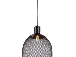 Transitional 1 light Black Pendant
