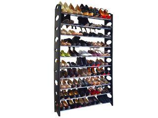 Studio 707   50 Pair Shoe Rack   10 tier
