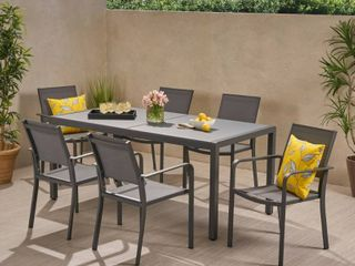 Gaven Outdoor Pair of Aluminum Chairs by Christopher Knight Home