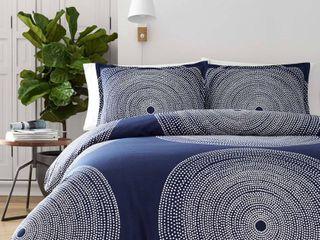 Marimekko Fokus Duvet Cover   Sham Set  Size King   Blue