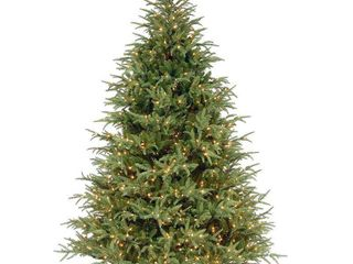 National Tree Pre lit 7 1 2  Feel Real Frasier Grande Hinged Artificial Christmas Tree with 1000 Clear lights
