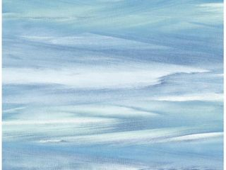 NextWall Sirius Brushstroke Abstract Peel and Stick Wallpaper 30 75 sq  ft  lakeside   Mint