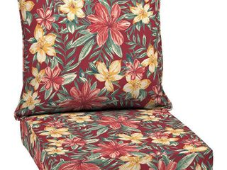 Clarissa Tropical Deep Seat Outdoor Cushion Set Ruby   Arden Selections