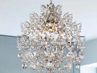 Dalia Indoor 3 light Brushed Champagne Crystal Chandelier  Retail 180 49