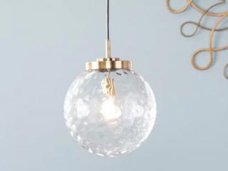 Strick   Bolton Padgett Contemporary Brass Glass Pendant light Retail 101 99