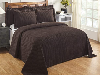 Full Size Better Trends Jullian Collection Tufted BedSpread
