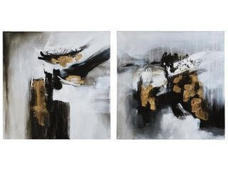 Jerrin Contemporary Abstract Wall Art   Set of 2 Retail 87 49