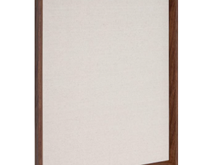 Kate and laurel Calter Framed linen Fabric Pinboard  21 5x27 5  Gold