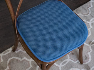 Sweet Home 16  x 16  Memory Foam Non Slip Chair Pad Sea Blue set of 4